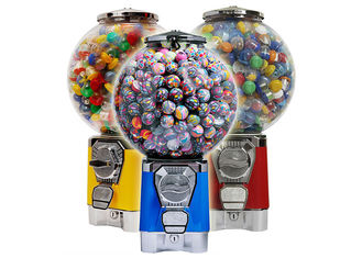 Safe Circular Vending Machine , Gumball Vending Machine With Removable Cash Box